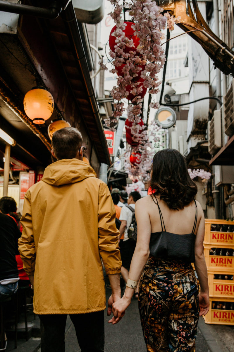 Couple Travel Photography Session in Tokyo