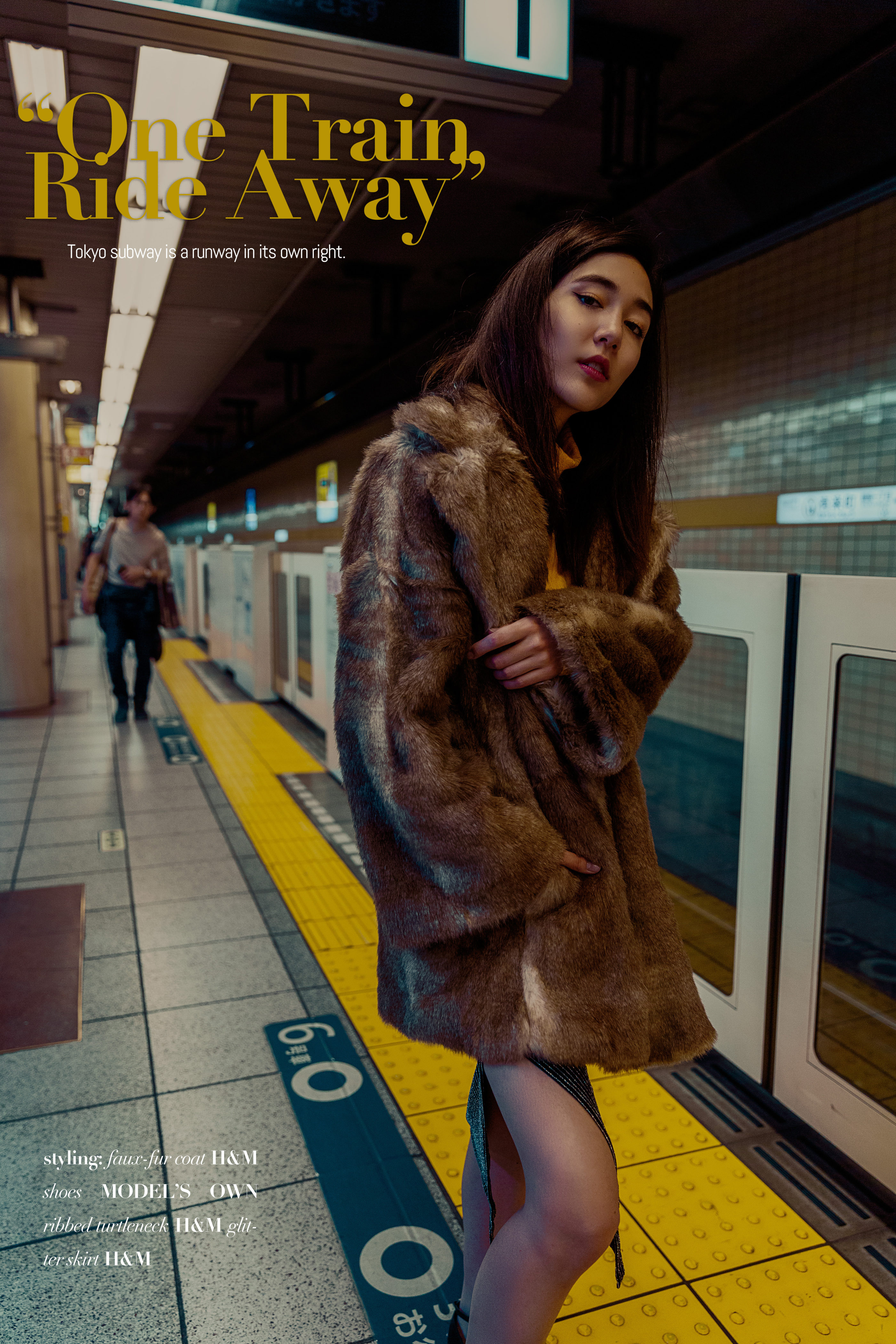 Fashion editorial on Tokyo subway by ivana micic