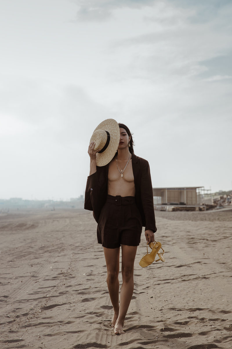 Summer Lookbook Photoshoot at the beach in Tokyo by Ivana Micic