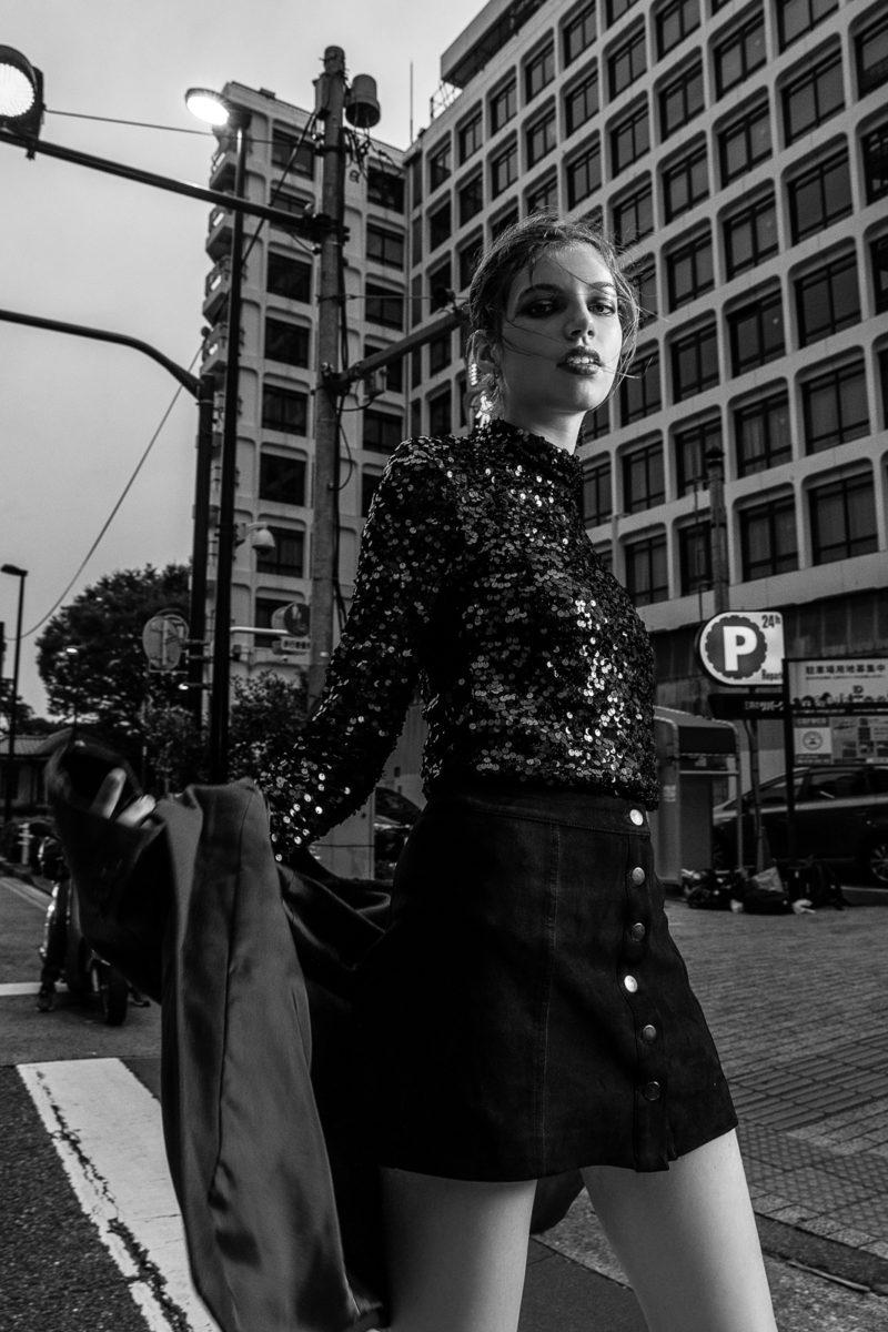 Model lookbook with Yeva in Tokyo by Ivana Micic